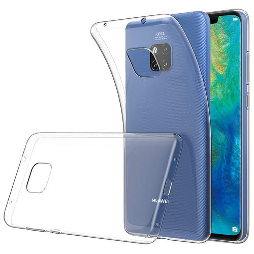 Flexi Thin Crystal Gel Case for Huawei Mate 20 Pro - Clear / Gloss